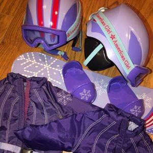 American Girl Snowboarding set